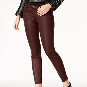 7 For All Mankind Coated Sheen Skinny Jeans, 29